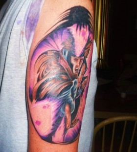 X-men gambit arm tattoo