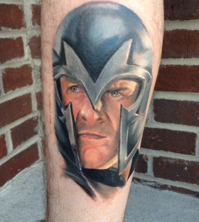 X-men magneto arm tattoo