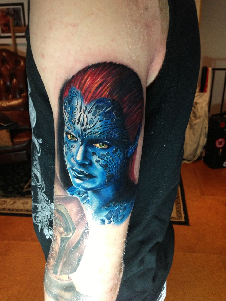 X-men mystique arm tattoo