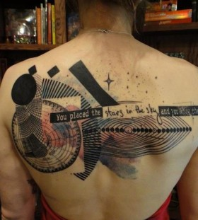 Xoil tattoo with quote