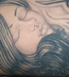 Creative Women Portrait Tattoo Design Idea