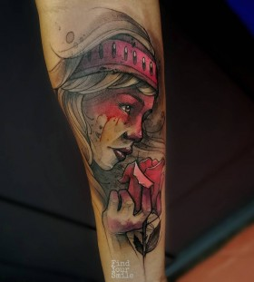 abstract-lady-watercolor-tattoo