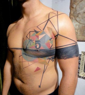 abstract tattos for men
