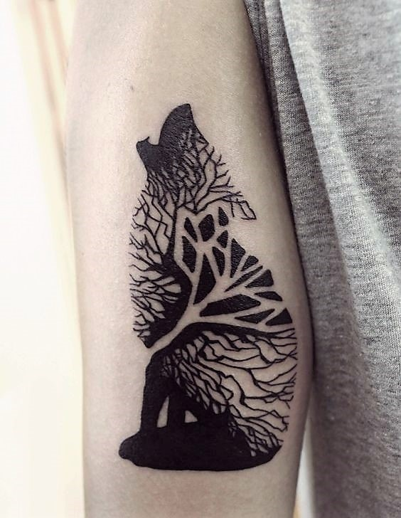 abstract-wolf-tattoos