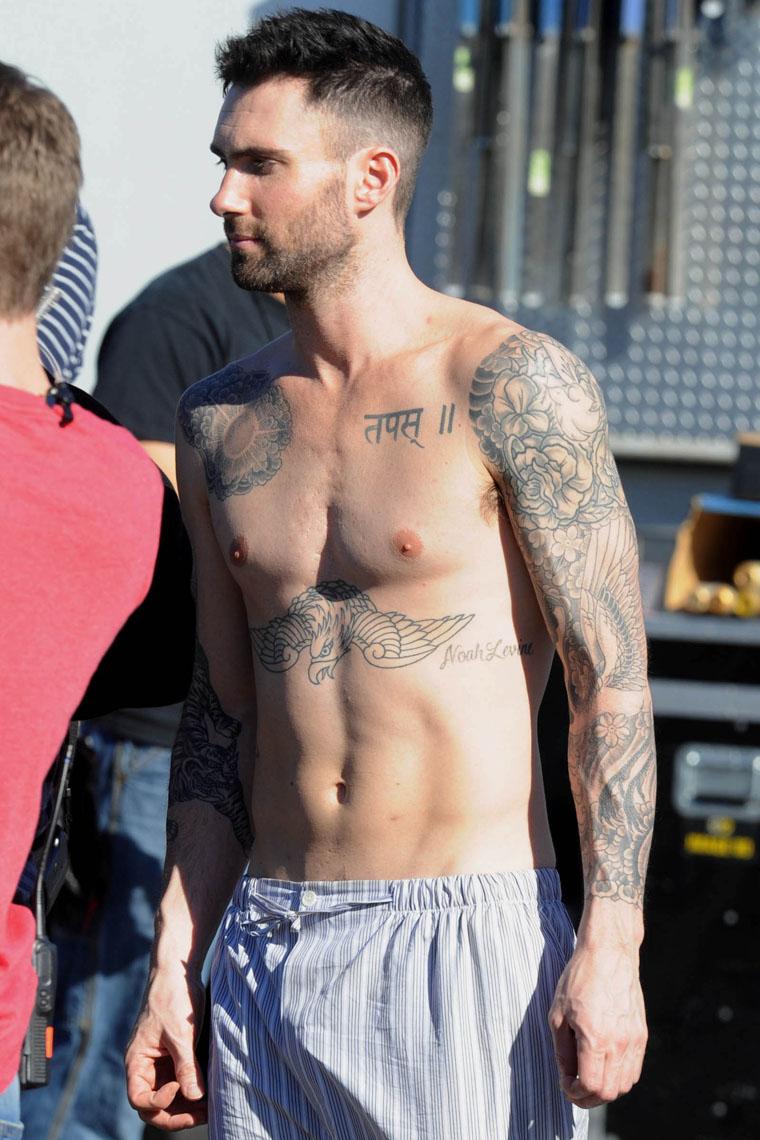 Adam Levine Full Left Arm Tattoo