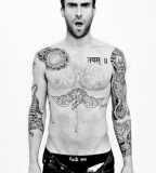 Amazing Adam Levine Tattoo on Body