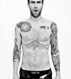 Amazing Adam Levine Tattoo on Body