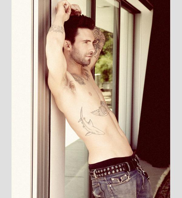 Adam Levine Shark Tattoo