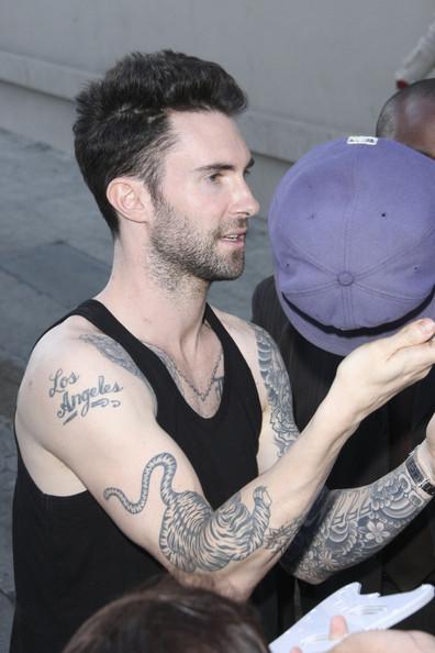 Adam Levine Tattoo Tiger Tattoo
