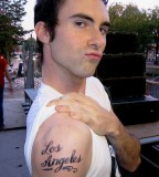 Adam Levine Los Angles Tattoo