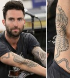 Adam Levine Tiger Tattoo Detail