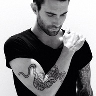 Adam Levine Amazing Tiger Tattoo