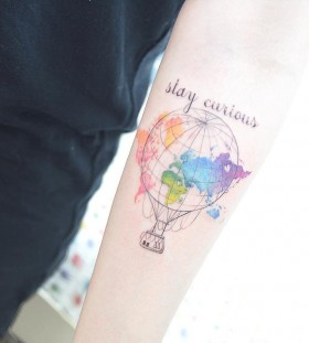 air-balloon-and-world-map-tattoo-by-tattooist_banul
