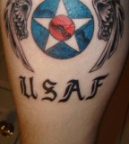Vintage Modern Air Force Tattoo Design Picture