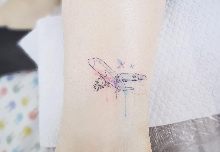 airplane-tattoo-by-tattooist_banul