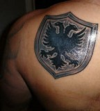 Albanian Eagle Flag Tattoo