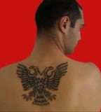 Albanian Tattoo Lilzeu Tattoo on Men's Back