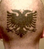 Albanian Eagle Scalp Tattoos