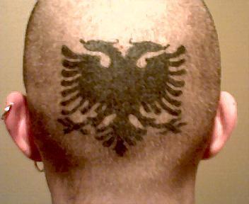 Albanian Eagle Scalp Tattoos