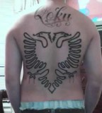 Original Albanian Eagle Outline Tattoo
