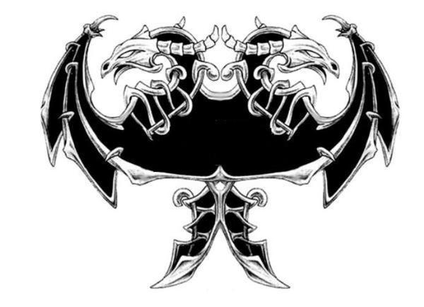 Albanian Eagle Tattoos Sketch Artwork