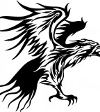 Tribal Flames Eagle Carvehicle Tattoo Design