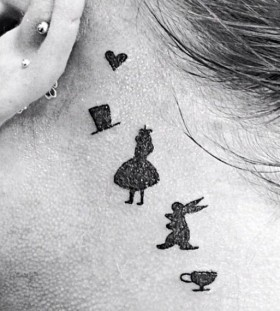 alica in wonderland tattoos for women