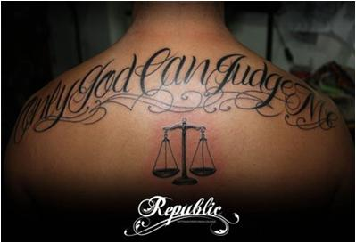 God Can Judge Tattoo