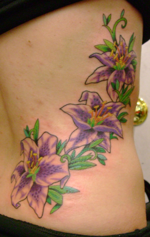 Colorful Flower Tattoo Design Ideas