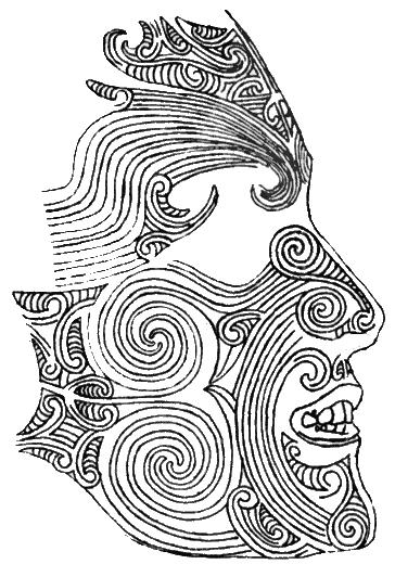 Maori-Polynesian Tattoo with Moko Ink