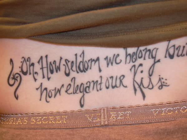 Tattoo Fonts For Body Art Tattoos