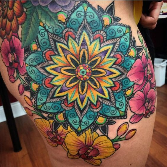 amazing mandala tattoo