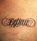 Believe Ambigram Tattoo Design