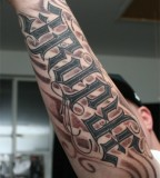 Ambigram Tattoo Full On Arm