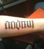 Ambigram Tattoo On Arm