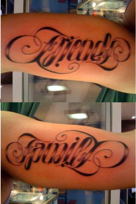 Excelent Ambigram Tattoo Design