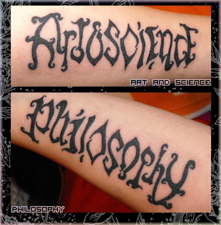 Best Ambigram Tattoo On Arm