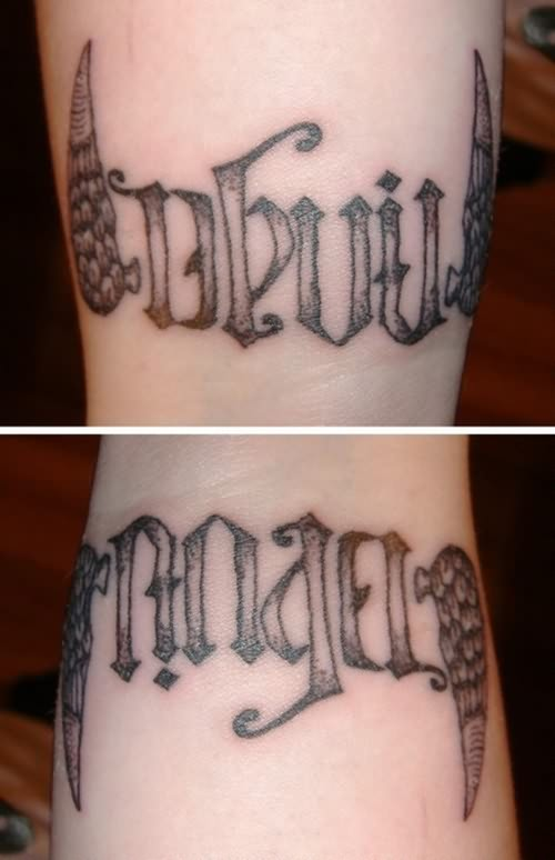 Beautiful Ambigram Tattoo Design