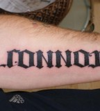Connor Ambigram Tattoo Design
