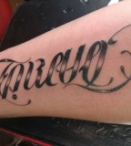Forever Ambigram Tattoo Design