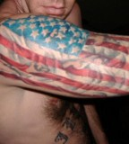 Remarkable American Flag Tattoo on Half Sleeve