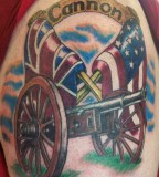 Canon Be Covered Amreican Flag Tattoo Design