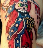 American Battle Flag Tattoo Design