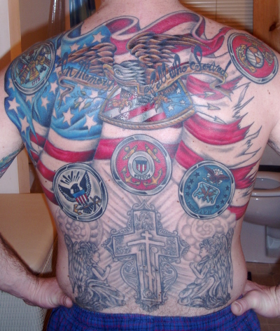 Great American Tattoo Design on Back