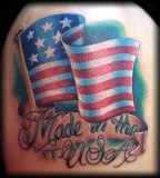 Remarkable USA Flag Tattoo Design