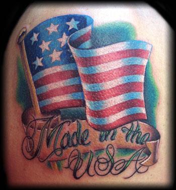 Remarkable USA Flag Tattoo Design
