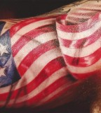 American Tattoo Design on Upper Arm