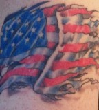Sublime American Flag Tattoo Design