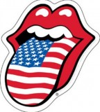 Rolling Stone And American Flag Tattoo Sketch