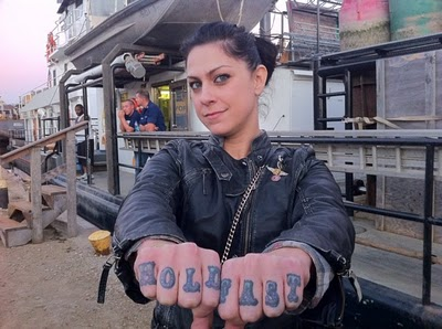 American Pickers Danielle's Finger Tattoo
